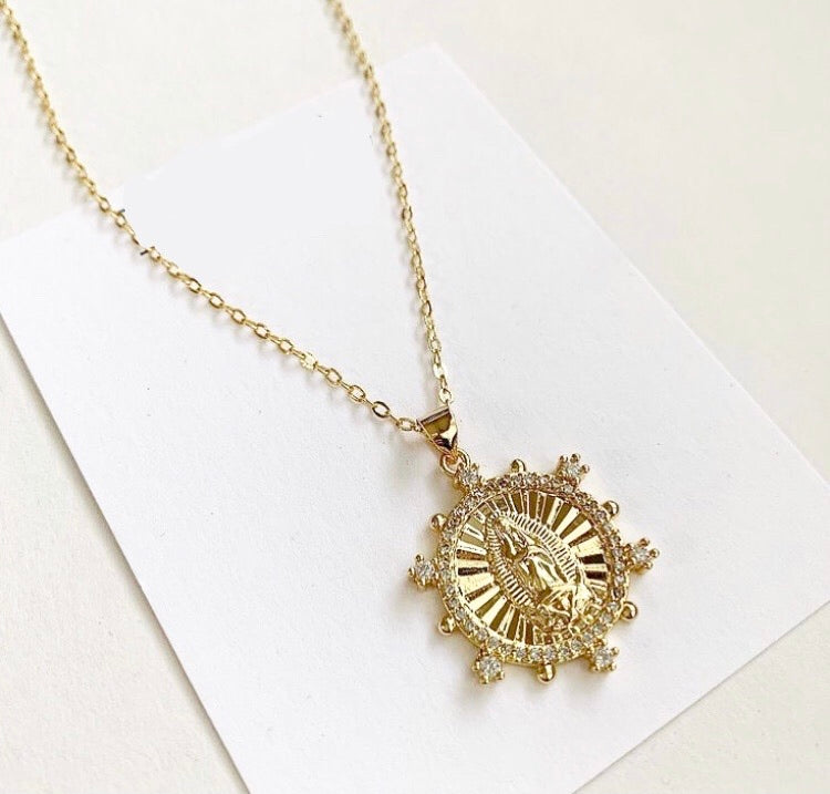 Sunburst Mary Necklace
