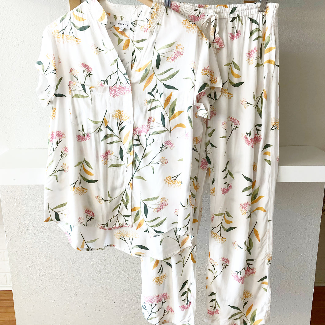 Rice Flower Short Sleeve with Pants