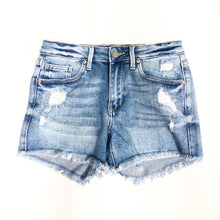 Load image into Gallery viewer, Mid Rise Distressed Shorts