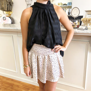 Mixed Dot Smocked Skort