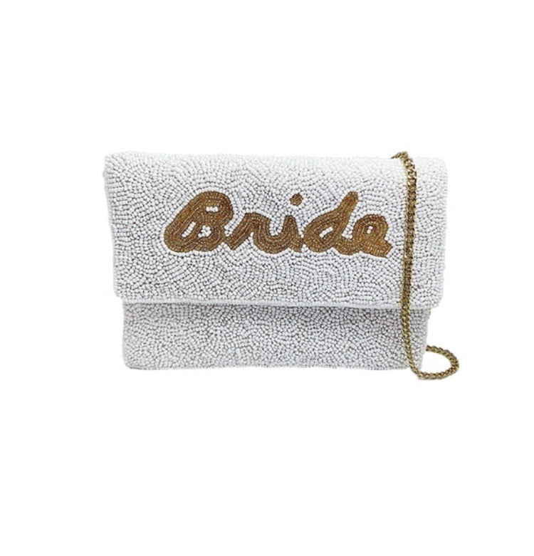 Mini Bride Beaded Clutch
