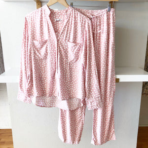 Pink Dot Long Sleeve with Pants