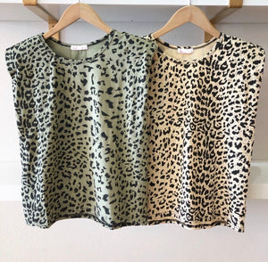 Leopard Print Should Pad Tee