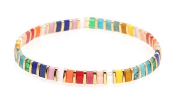 Rainbow Stretch Bracelets