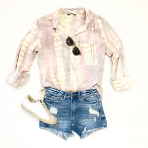 Tie Dye Button Top