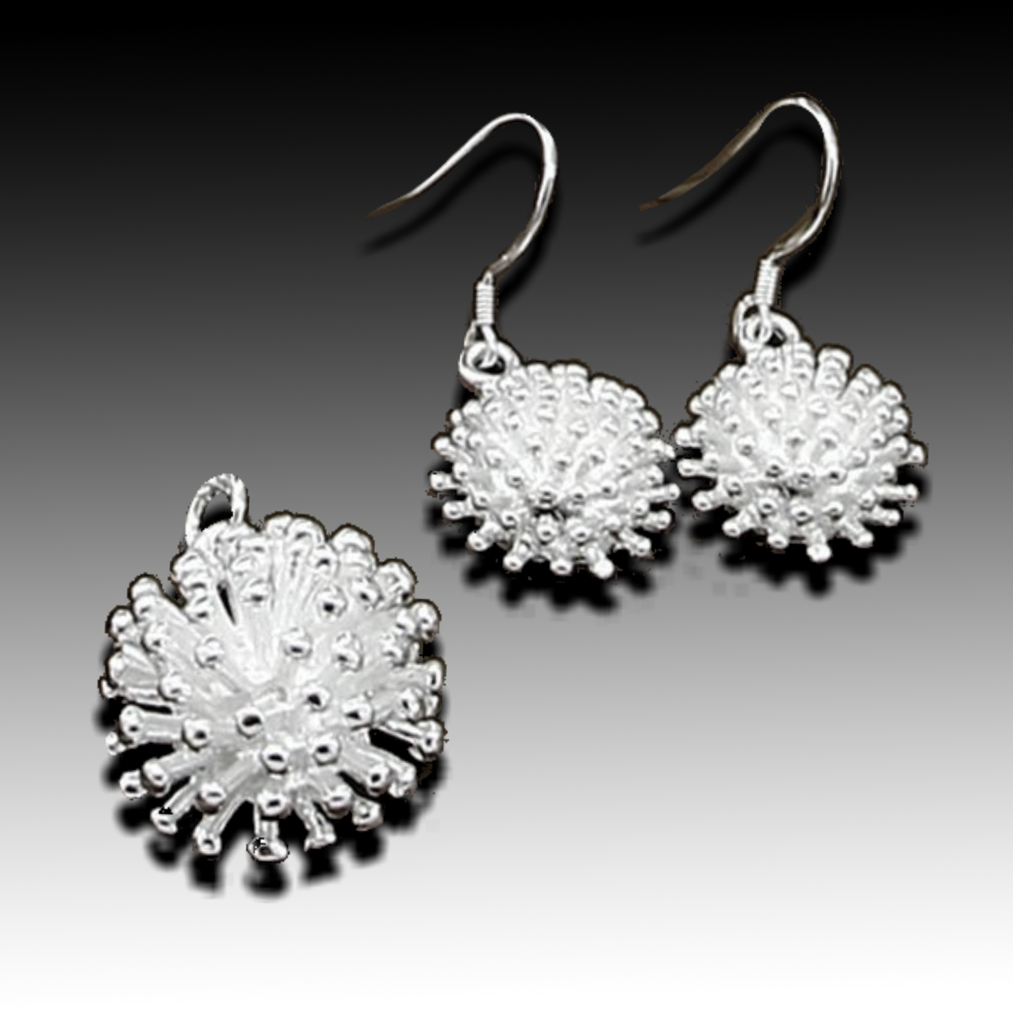 Starburst Earrings & Pendant Set