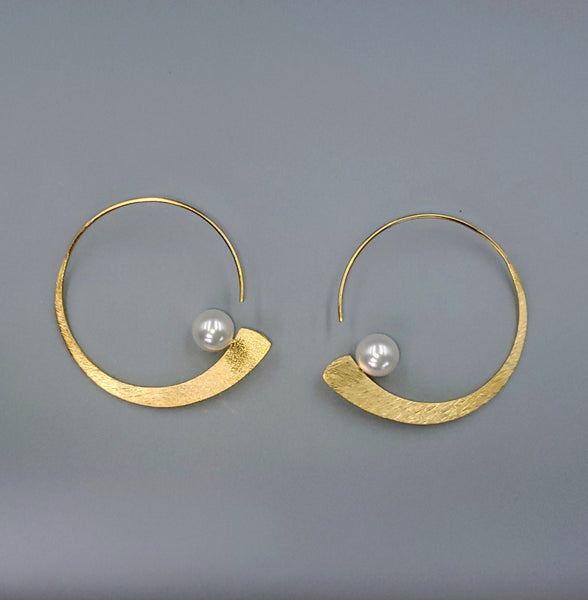 gold hoop earrings with pearls greta cannon