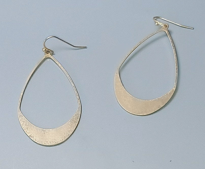 Gold Crescent Hoops