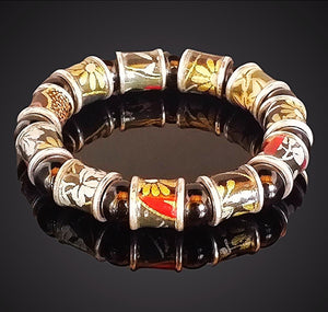 Red and Black Washi Bracelet