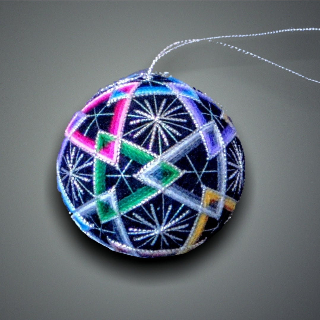 Multi Color Triangle Temari Ball