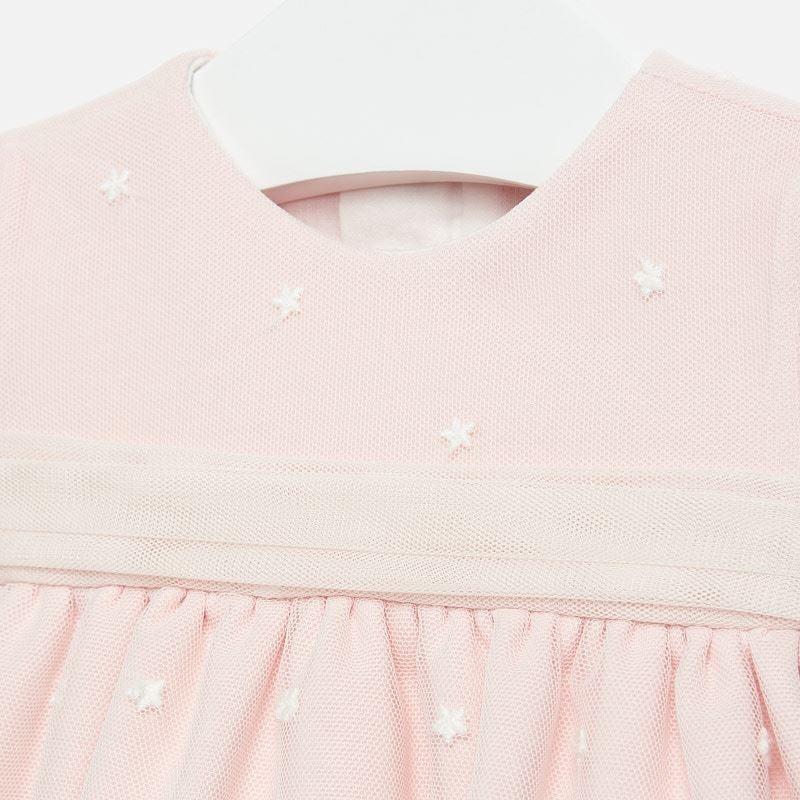 Mayoral Embroidered Tulle Dress