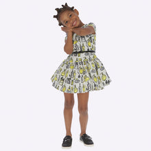 Load image into Gallery viewer, Mayoral Jacquard Printed Dress