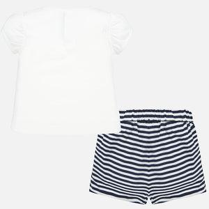 Mayoral Striped Shirt and Short Set
