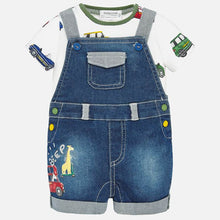 Load image into Gallery viewer, Mayoral Denim Dungaree Set