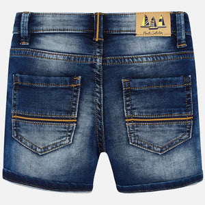 Mayoral Soft Denim Bermuda Shorts