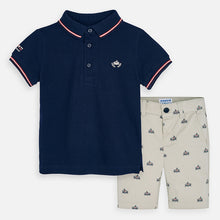 Load image into Gallery viewer, Mayoral Short Sleeve Polo Set