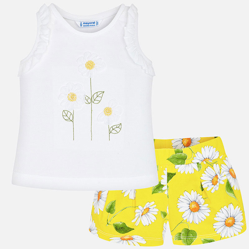 Mayoral Sunflower Shorts Set