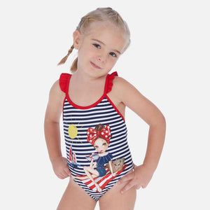 Mayoral Graphic Print Swimsuit