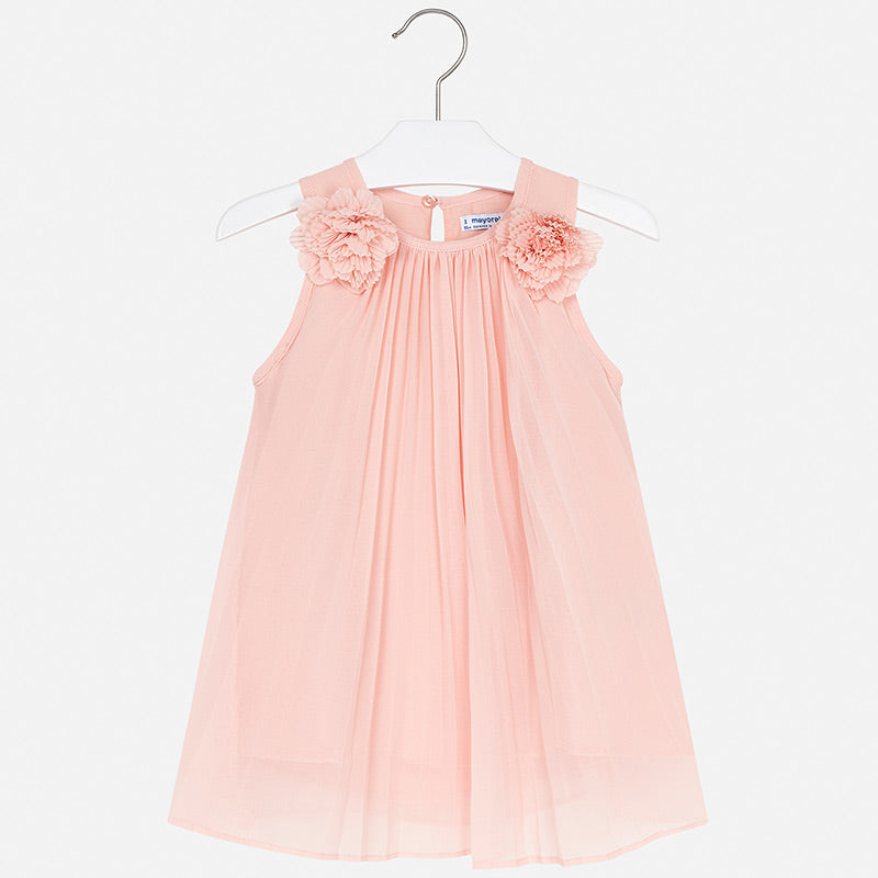 Mayoral Pleated Dress with Flowers