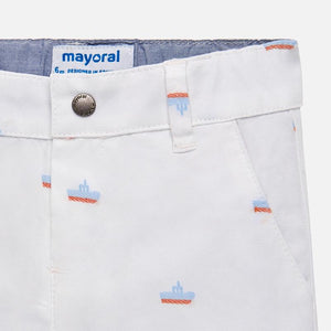 Mayoral Jacquard Chino Shorts