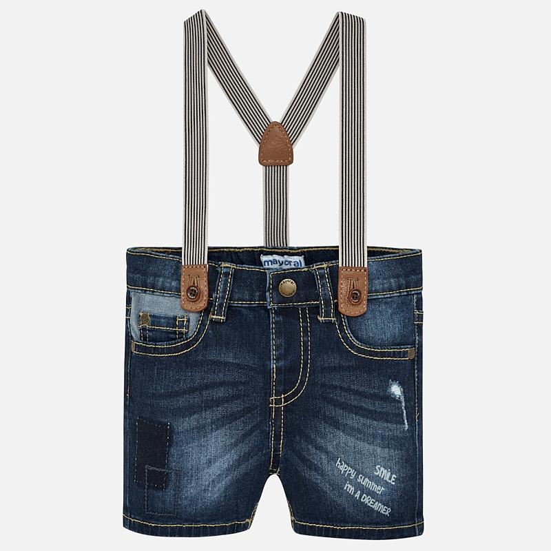 Mayoral Denim Bermudas with Suspenders