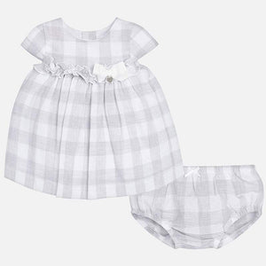 Mayoral Linen Check Dress