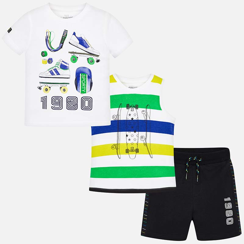 Mayoral Shorts Set with 2 T-shirts