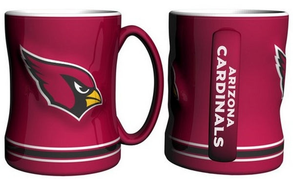 Arizona Cardinals Sculpted Relief Coffee Mugs