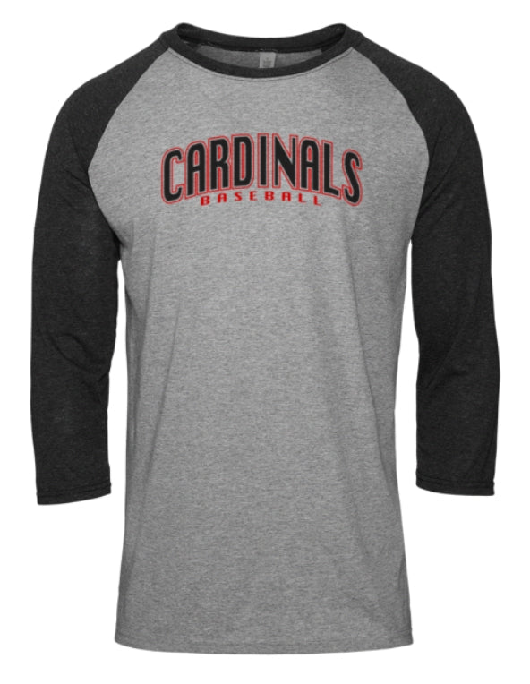RWA Sportswear - Cardinals Baseball Tri-Blend Raglan Performance T-Shirt