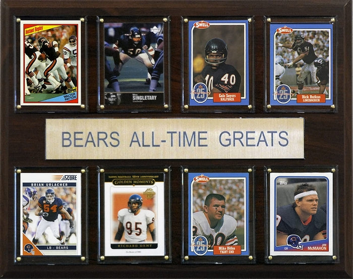 RWA Sportswear - Chicago Bears NFL All-Time Greats Plaque
