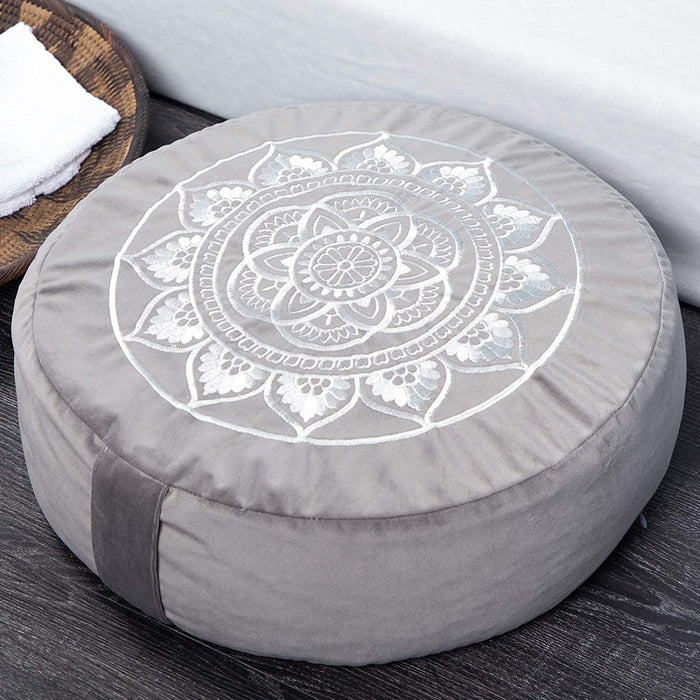Large Velvet Yoga Meditation Pillow