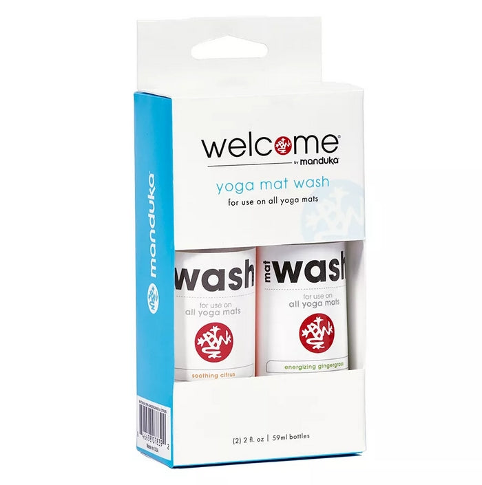Manduka Welcome Yoga Mat Wash Citrus and Ginger Grass Scent Set