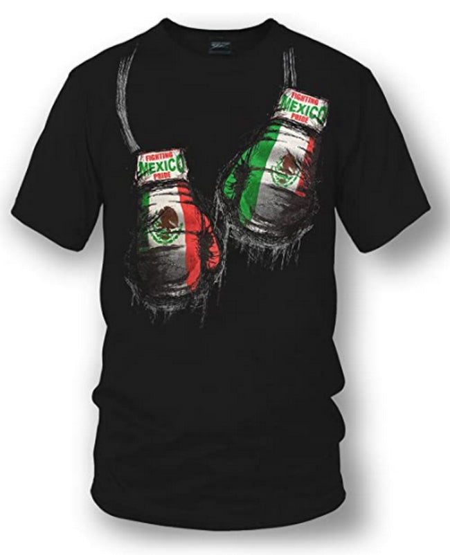 Mexican Pride Boxing Black Tshirt