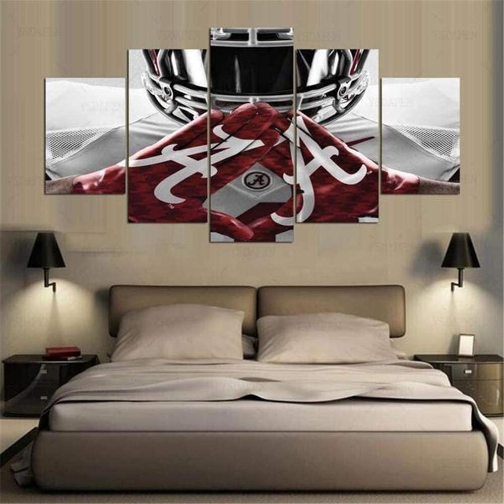 Alabama Crimson Tide College Football 5 Piece Canvas Art