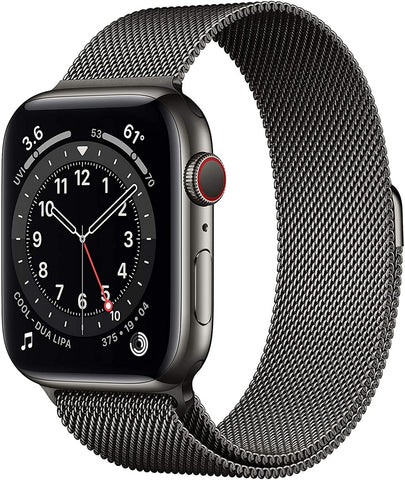 Apple Watch Series 6 (GPS + Cellular) Graphite Stainless Steel Case with Graphite Milanese Loop