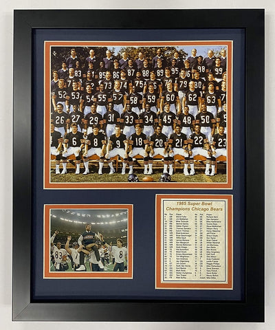 RWA Sportswear - Chicago Bears 1985 Roster Framed Team Photo