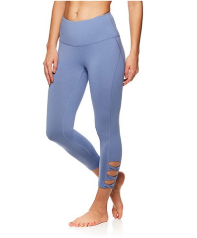 Gaiam High Rise Waist Yoga Performance Compression Leggings
