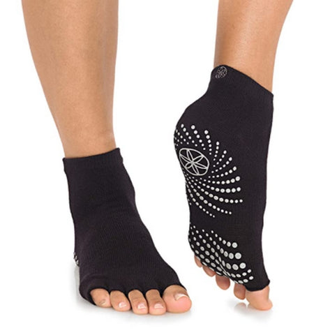Gaiam Yoga Socks Toeless Grippy Non Slip Sticky Grip