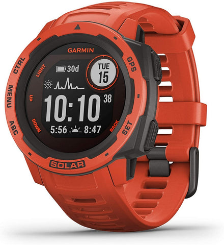 Garmin Instinct Solar, Solar-Powered Rugged Outdoor Smartwatch