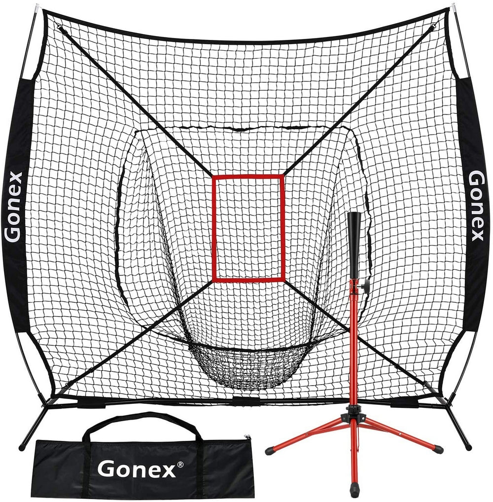 Gonex 7' x 7' Baseball Softball Practice Net Set for Hitting and Pitching