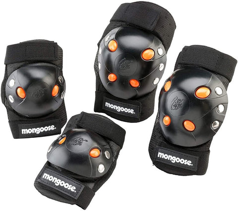 Best Mongoose BMX Bike Gel Knee and Elbow Pads