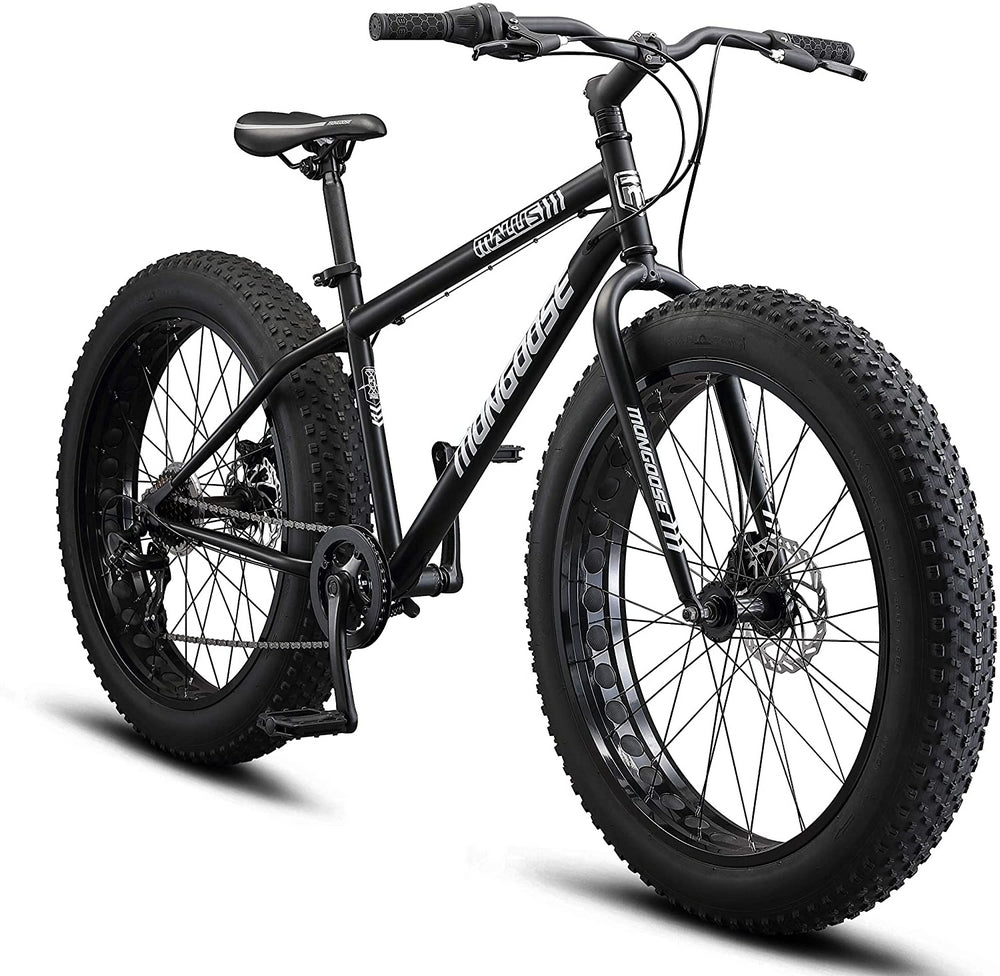 Mongoose Malus Fat Tire Stealth Black Mountain Bike