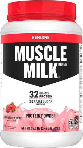 Road Warrior Athletics - Muscle Milk Genuine Protein Powder Strawberries N Creme