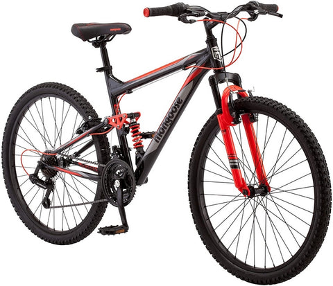 RWA Sportswear - Mongoose Aluminum Frame Performance Mountain Bike 26 Inch Wheels