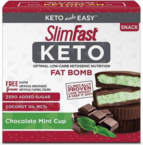 Road Warrior Athletics - SlimFast Keto Fat Bomb Chocolate Mint Cup Snacks