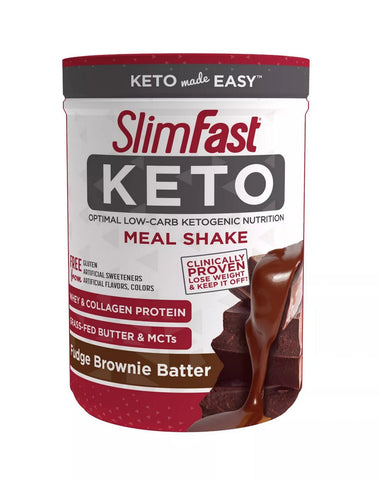 Road Warrior Athletics - SlimFast Keto Meal Replacement Powder Fudge Brownie Batter