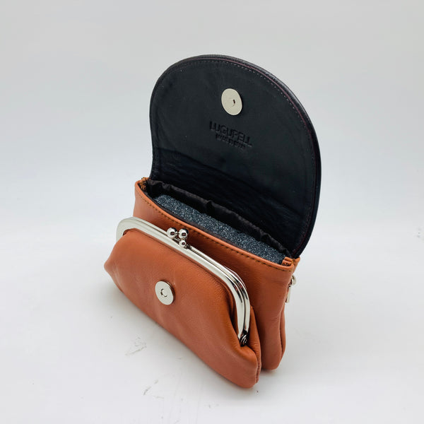 N428 BICOLOR - CUERO MARRON MONEDERO LUGUPELL