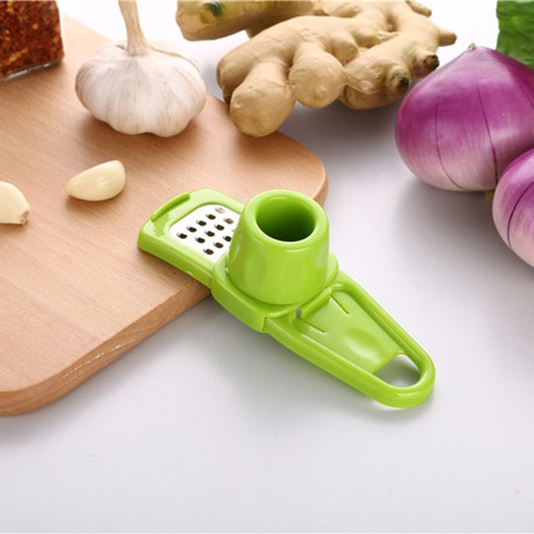 1Pcs Multi-functional Plastic Stainless Steel Garlic Press