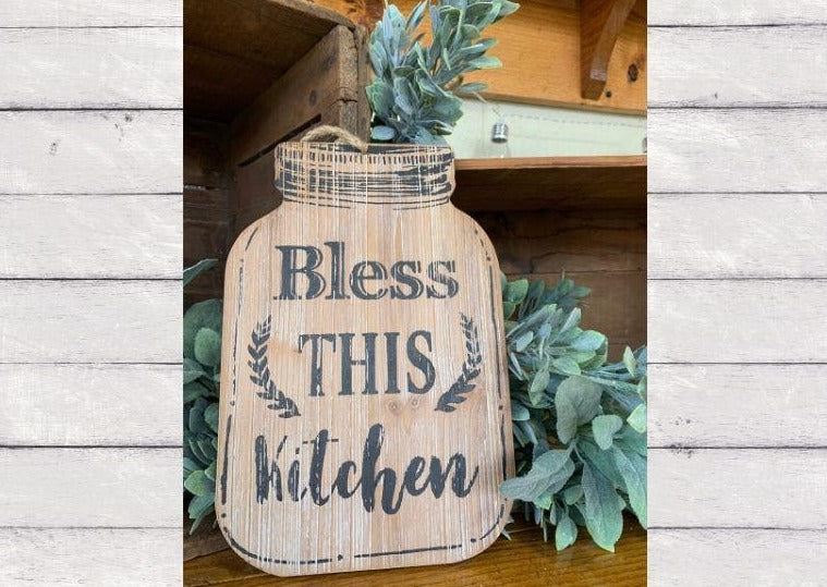 Bless This Kitchen Sign