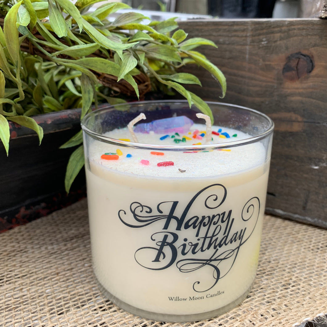 Willow Moon Happy Birthday Candle